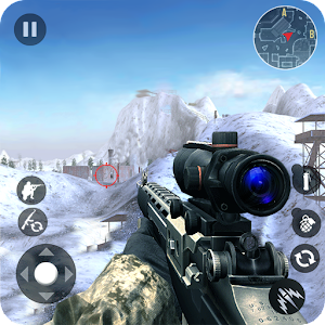 Winter Mountain Sniper - Modern Shooter Combat