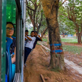 From The Foot-board of the Kolkata Tram by Uttiyo Das - People Street & Candids