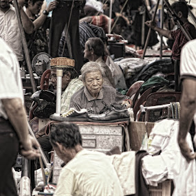 Waiting by Sim  Chee teck - News & Events World Events ( waiting, old man )