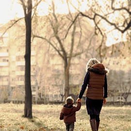 Walking with mom by Milica Veselinovic - People Family ( love, walking, family, toddler, mom )