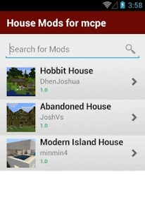 House Mods List For MCPE - screenshot