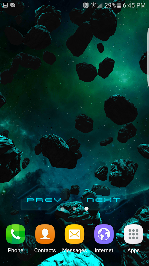 3D Galaxy Pack Live Wallpaper Screenshot 4