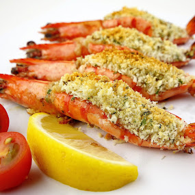 grilled herb crusted tiger prawns by Chef Faizal - Food & Drink Ingredients
