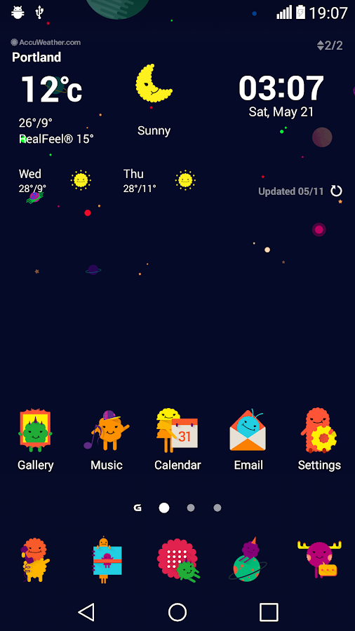 Space Theme for LGHome Screenshot