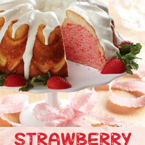 Strawberry Cream Cheese Ribbon Cake