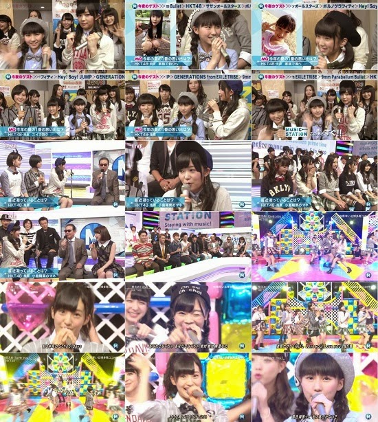 (TV-Music)(1080i) HKT48 – 控えめI love you ! + Talk (Music Station) 140905