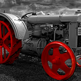 Red Wheels by Wilson Beckett - Transportation Other