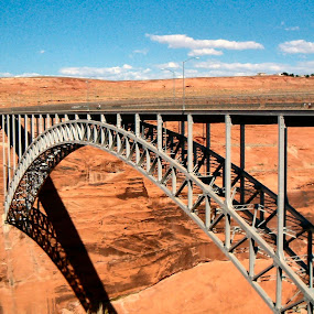 Glen Canyon Dam Bridge, Page AZ by Lynette Phipps - Buildings & Architecture Bridges & Suspended Structures ( pwcbridges )