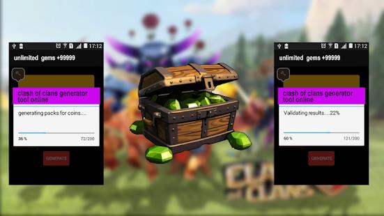 APK App gems clash of clans prank for iOS