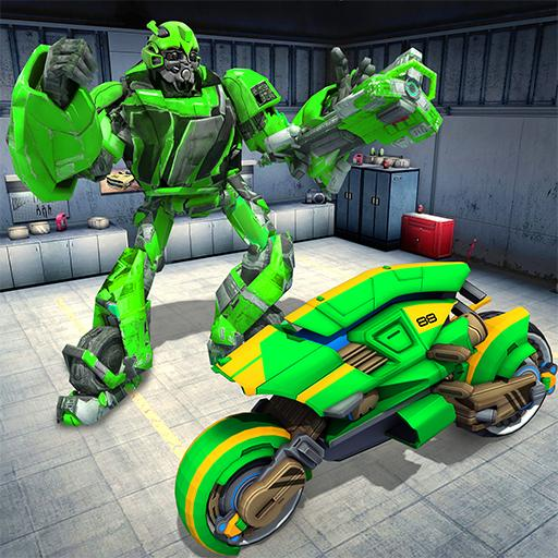 Futuristic War Robot Transformer Bike (game)
