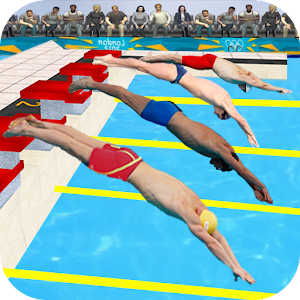 Water Swimming Race Icon