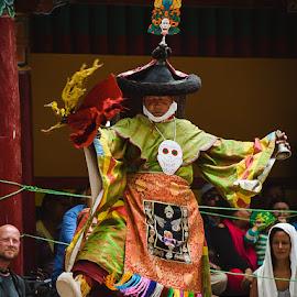 HEMIS FESTIVAL by Urgain Rangdol - People Musicians & Entertainers ( hemis festival, himalaya, monastery, mask, india, festival, ladakh, people )