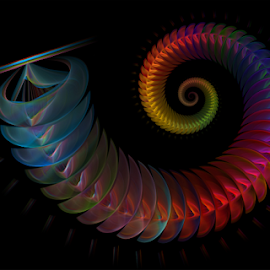 Spiral 50 by Cassy 67 - Illustration Abstract & Patterns ( digital, love, harmony, surreal, abstract art, spiral, abstract, fractals, digital art, swirl, modern, light, fractal, colorful, energy )