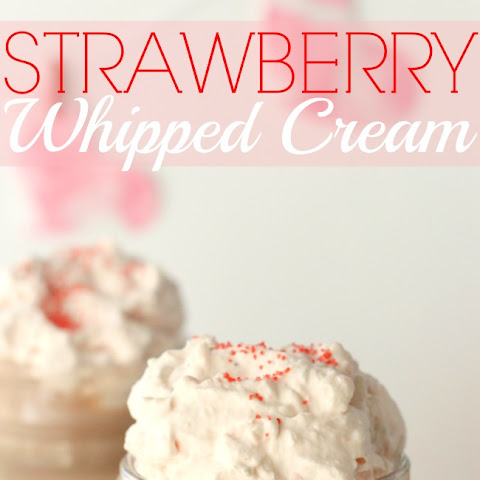Easy Strawberry Whipped Cream + Valentine's Day Hot Cocoa