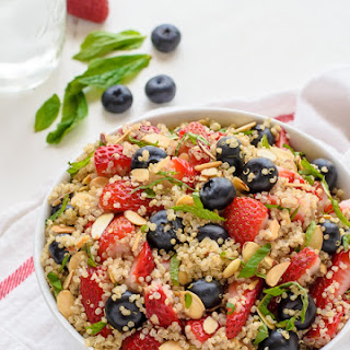 Red White and Blue Quinoa Fruit Salad