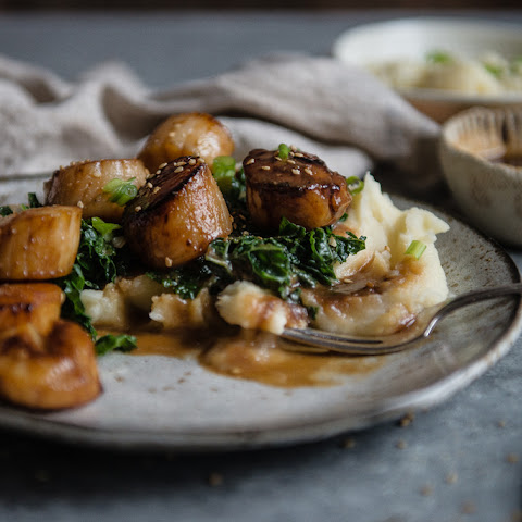 Miso-glazed Scallops