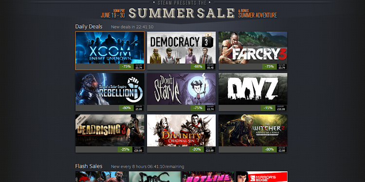 Possible dates for the Steam Summer Sale appear online