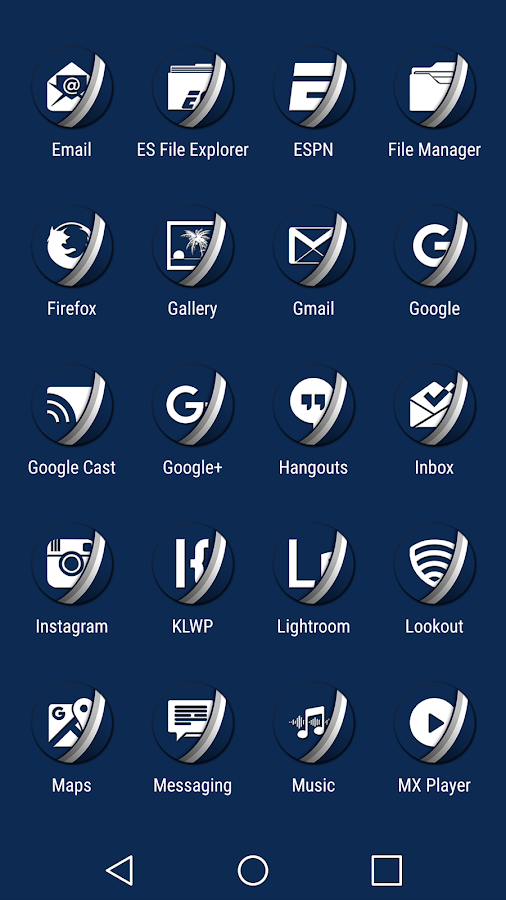 Naz Dal Blue - Icon Pack Screenshot 3