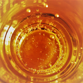 Looking Through Beer by Sarah Harding - Novices Only Abstract ( beer, drink, bubbles, glass, novices only )