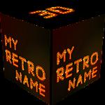 3D My Retro Name Wallpaper Icon
