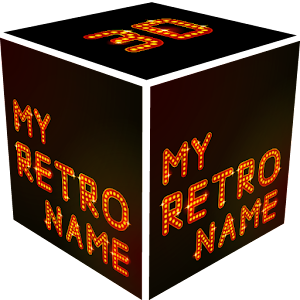3D My Retro Name Wallpaper