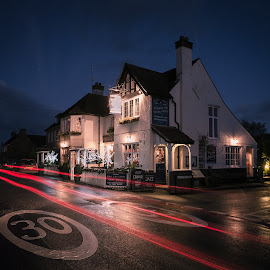 The Prince of Wales, Hoath by Dan Horton-Szar ARPS - City,  Street & Park  Night ( lights, kent, hoath, night, pub )