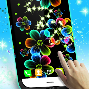 Neon Flowers Live Wallpaper