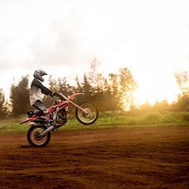 Wheelie by Lydia Stuemke - Novices Only Sports ( motocross, dirtbike, fun, fast, wheelie )