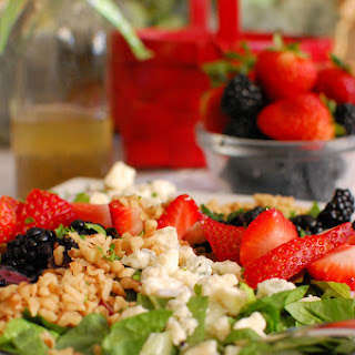 Berry Chopped Salad with Sweet Poppyseed Dressing