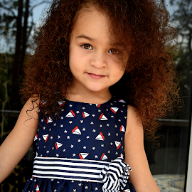 Luna Lee by Melissa Cazarin - Babies & Children Child Portraits ( girl, bright, brown, pretty, eyes )