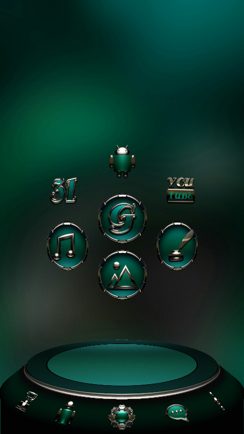 TRIQUA Next Launcher 3D Theme Screenshot 2