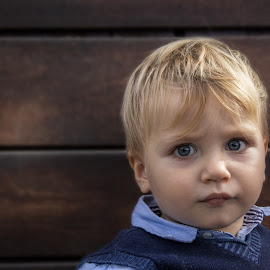 Blonde babie by Gianluca Presto - Babies & Children Child Portraits ( baby portrait, blonde, babie, little, blue eyes, baby, cute, baby photography, portrait )