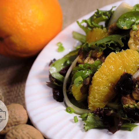Citrus Walnut Green Salad