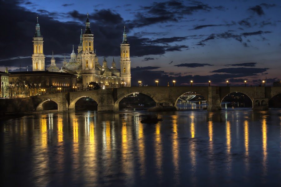 Zaragoza  by night by Tony Goran - Buildings & Architecture Other Exteriors