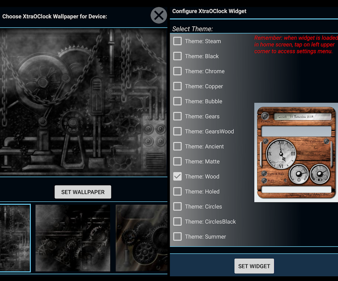 XtraOClock Steampunk Widget Screenshot 7