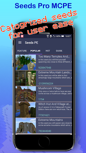 Seeds: Seeds for Minecraft PE - screenshot
