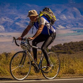 Uphill ride by Ruth Sano - Sports & Fitness Cycling ( cycle, bike, sport, man, bicycle )