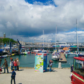 Little Irish Town by the Sea by Lil's Photography - City,  Street & Park  Street Scenes ( dun laoghaire, street dun laoghaire, sea, town by the sea, sea town )