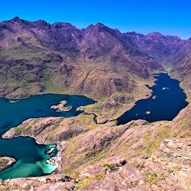 by Phil Bear - Landscapes Mountains & Hills ( peak of strife, coast, mountains, sgnurr na stri, isle of skye, lake, scotland )