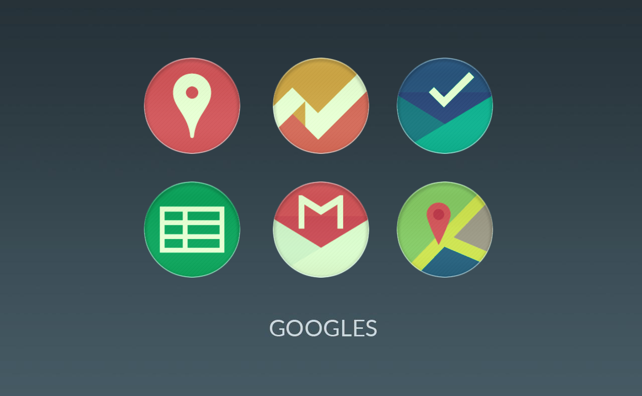 Lotte UI - Flat Round Icons Screenshot 2