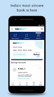Payments, Wallet, Bank Account, QR Scanner Screenshot