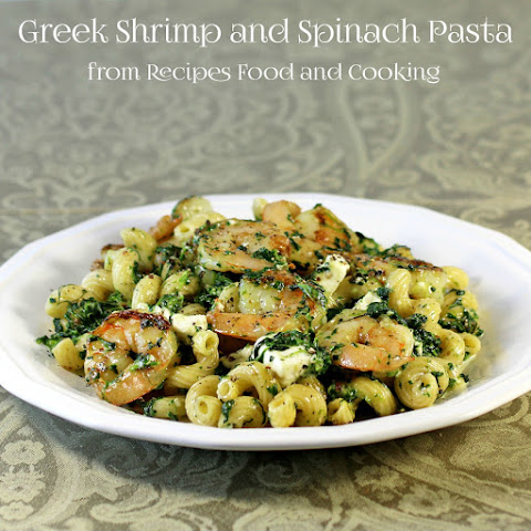 Greek Pasta With Shrimp, Feta, Tomatoes, And Olives Recipe ...