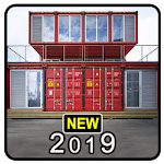 House Container Design Icon
