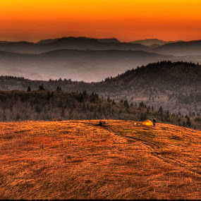 Blue Ridge Sunset by Serge Skiba - Landscapes Mountains & Hills ( blue ridge mountains, mountains, blue ridge parkwway, sunset, landscape )