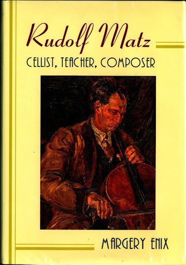 The American cellist and music professor Margery Enix wrote an extensive biography of Matz. It is the major source of information for this exhibit. Dominis Publishing published the book in 1996.