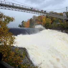 Bridge in Quebec by Yury Tomashevich - Buildings & Architecture Bridges & Suspended Structures ( water, nature, waterfall, bridge, bridges,  )