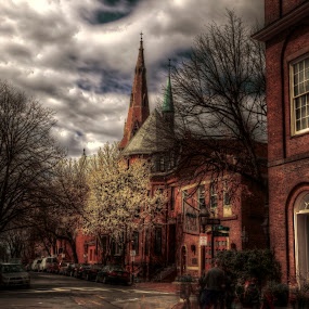Beacon Hill by Chip Bolcik - City,  Street & Park  Street Scenes