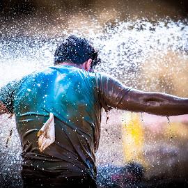 Endurance by Jose Luis Mendez Fernandez - Sports & Fitness Running ( water, spartan race, extreme, splashing, summer, running, athlete )