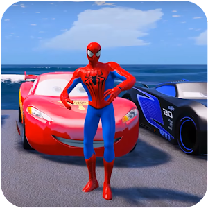 Let's Play Superheroes Car Stunt Racing Games APK Icon