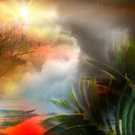 Light in the storm by Darlene Lee - Digital Art Places